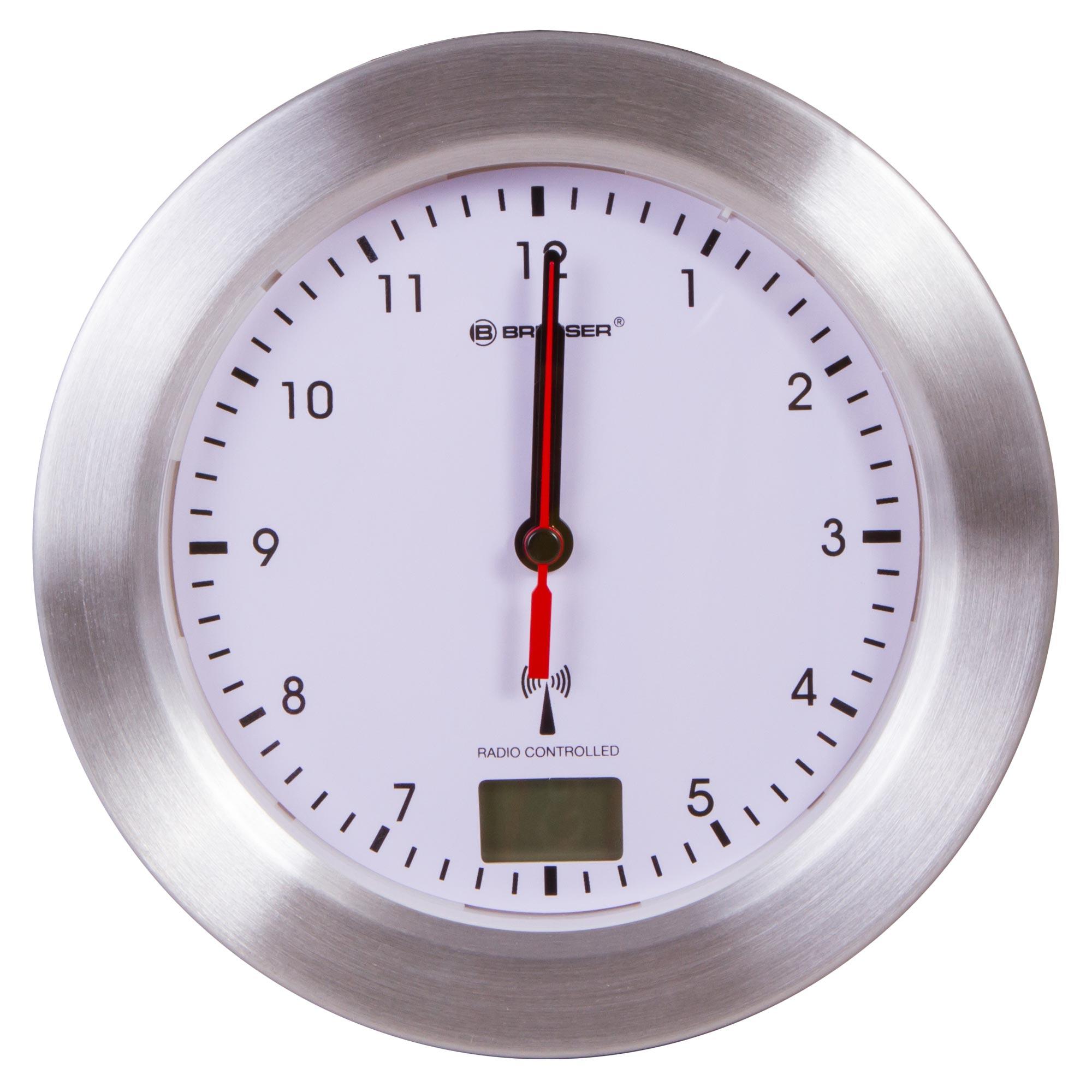 Часы настенные Bresser MyTime Bath, водонепроницаемые, белые