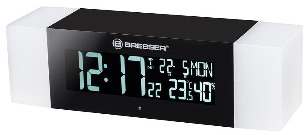 Радио с будильником и термометром Bresser MyTime Sunrise Bluetooth, черное
