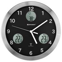 Метеостанция (настенные часы) Bresser MyTime io, 30 см, черная