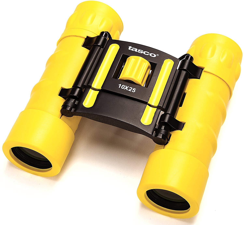 Бинокль Tasco Essentials 10x25, желтый