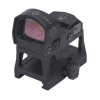 коллиматор Sightmark Mini Shot M-Spec LQD панорамный быстросъемный, на Weaver/Picatinny, + высокий кронштейн, + монтаж на пистолетную раму, точка 3МОА, красный 10 уровней яркости, батарейка CR1632, до 3,5 лет, алюминий, 90г