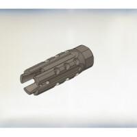 """Дульный компенсатор """"КАМЕРТОН-2"""" на огнестрельное оружие типа ВЕПРЬ-12/САЙГА-12, 5 лепестков и 15 радиальных отверстий"""