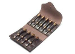 VEKTOR Подсумок из натуральной кожи на 9 нарезных патронов, двухрядный, средний