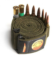 Патроллер, патронная лента для 100 шт. нарезных патронов, эластичная, от 223Rem и крупнее, ширина 40мм., вес 135гр.
