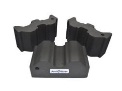 Опора Benchmaster для оружия наборная, жесткая пена, 3 части, прорезиненная основа, max=20,3х19х10,1 см, черная, 0,2кг