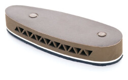 тыльник для приклада 20 мм, с кожаной накладкой, вентилируемый, коричневый с белой проставкой