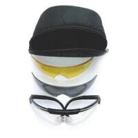 очки стрелковые Sporty набор с 3 линзами сменными (УФ-защита, класс оптики 1, незапотевающие, регулируемые дужки, сменные линзы)