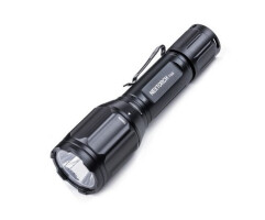 Комплект - фонарь T5G, диод CREE XP-L + E2, 860Lum белый + 170Lum зеленый, 10 режимов, выносн.кнопка, кронштейн, microUSB кабель, акуум.18650, IPX7, 165гр
