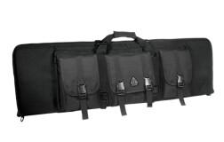 Чехол-рюкзак UTG тактический, на несколько единиц оружия, 107х6,6х33см., цвет - Black, 3 внешних съемных кармана, вес 2,7кг.
