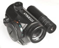 Прицел коллиматорный Sturman 1x20 с лазерным целеуказателем на Weaver