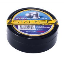 Пульки STALKER Domed pellets, калибр 4,5мм., вес 0,45г. (250 шт./бан.) (60 шт./уп.)