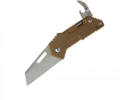 Нож Sanrenmu серии EDC лезвие 58мм., рукоять - G10, цвет - песок, открывашка, клипса на ремень
