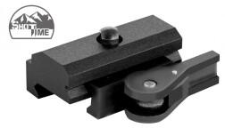 Адаптер-переходник ShotTime быстросъемный для сошек типа Harris на Weaver/Picatinny, сплав Д16Т+ сталь, черный, 101г