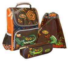 Рюкзак школьный Greenwich Line Jungle с наполнением