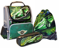Рюкзак школьный Greenwich Line Crazy Car с наполнением