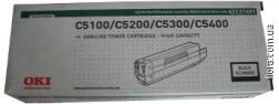 Картридж/тонер OKI, высокой емкости, черный (Black), для C5100/C5200/C5300/C5400