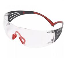 Очки стрелковые 3M™ SecureFit™ 401, поликарбонат, покрытие Scotchgard™ AS (против царапин)-AF(против запотевания), линзы прозрачные, душки - красные, 19г